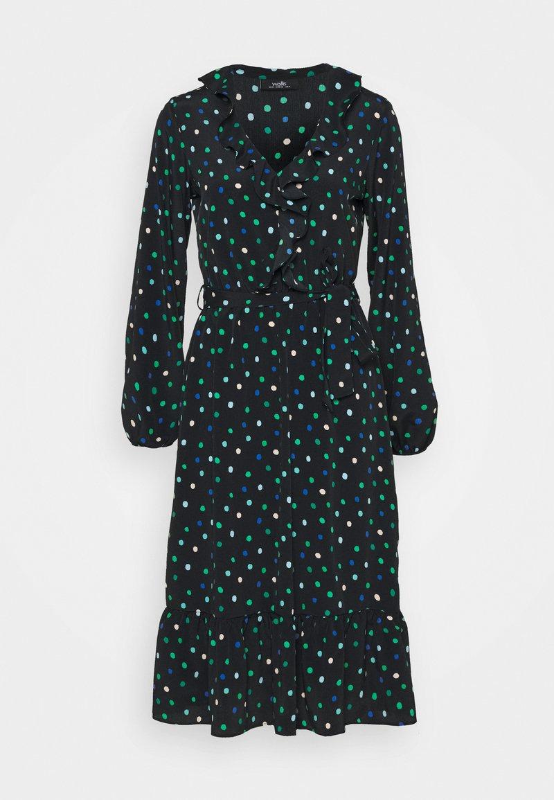 Wallis - DOT DRESS - Korte jurk - green