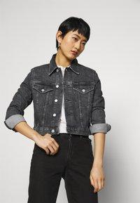 Calvin Klein Jeans - CROPPED JACKET - Denim jacket - denim grey - 3