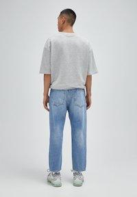 PULL&BEAR - Jeans relaxed fit - mottled dark blue - 2