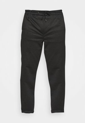EBERLEIN WITH ROLL UP CHECK - Trousers - cayman grey