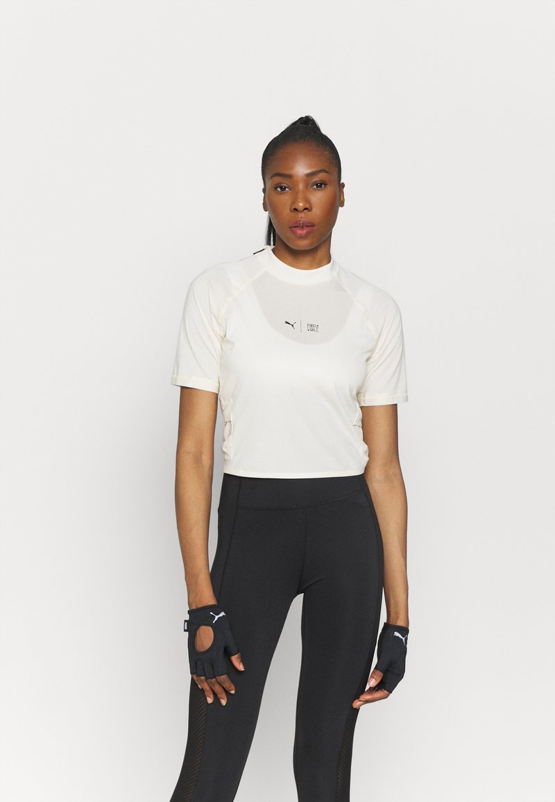 Puma - TRAIN FIRST MILE MOCK NECK  - Print T-shirt - eggnog