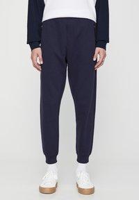 PULL&BEAR - Pantaloni sportivi - dark blue - 0
