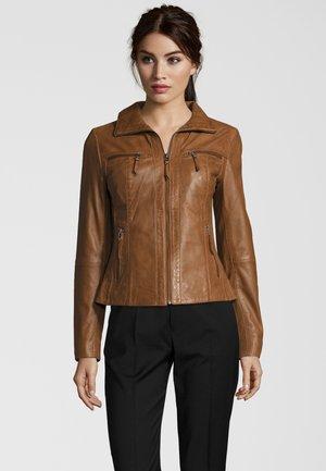FUNNY - Leather jacket - meera(3384)
