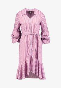 Apart - STRIPED DRESS - Robe chemise - lavender/red - 5