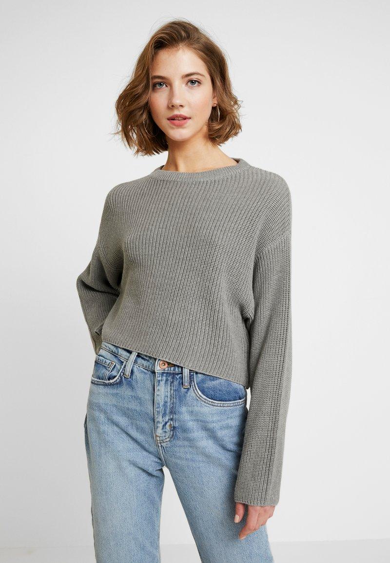 Even&Odd - CROPPED JUMPER - Pullover - grey