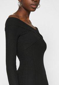 Miss Selfridge - BARDOT MINI DRESS - Shift dress - black - 5