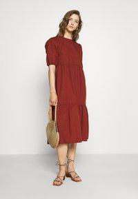 Pieces - PCPARSLEY  - Day dress - dark brown - 1