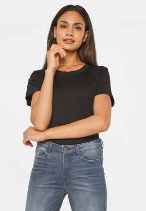 WE FASHION DAMEN-T-SHIRT AUS BIO-BAUMWOLLE - T-shirt basic - black