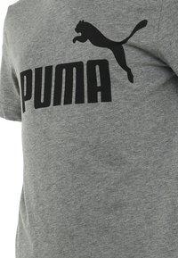 Puma - LOGO UNISEX - Camiseta estampada - medium gray heather - 2