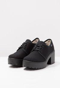 Victoria Shoes - ZAPATO LONA PISO - Kotníková obuv - black - 3