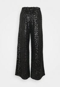 Banana Republic - EWAIST WIDE LEG CLUSTER SEQUIN - Kalhoty - black - 1