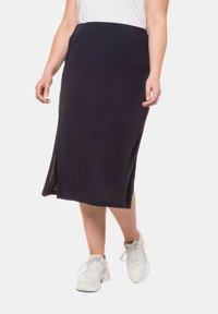 Ulla Popken - A-line skirt - marine - 0