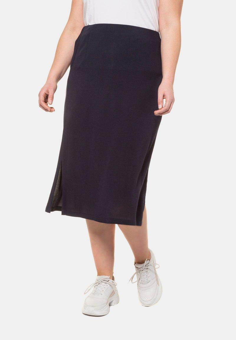 Ulla Popken - A-line skirt - marine