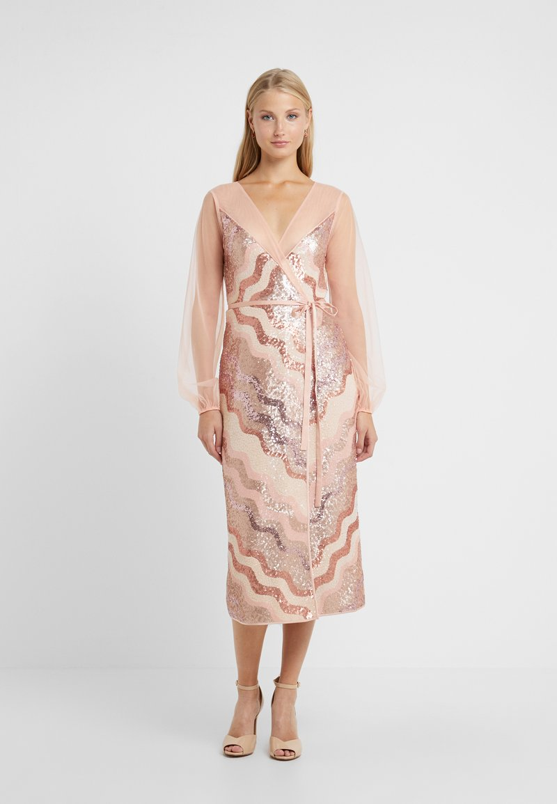 Three Floor - WRAP IT DRESS - Cocktail dress / Party dress - dusty pink/faded rose