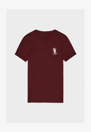 T-shirt med print - bordeaux