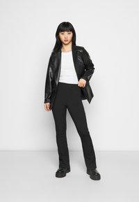 Topshop Petite - Trousers - black - 1