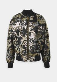 Versace Jeans Couture - BROCCATO LOGO BAROQUE  - Bomber Jacket - black - 5