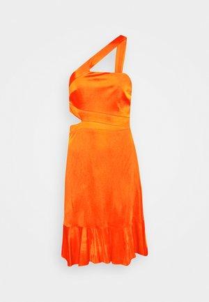 EVE SHORT DRESS - Cocktail dress / Party dress - open orange