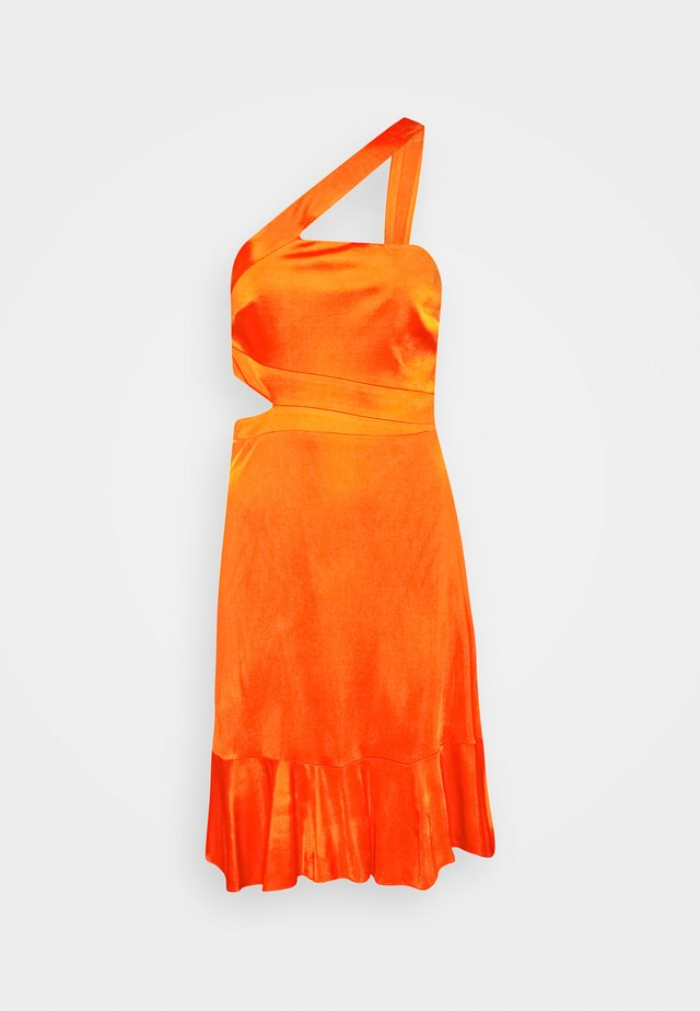 EVE SHORT DRESS - Cocktail dress / Party dress - open orange