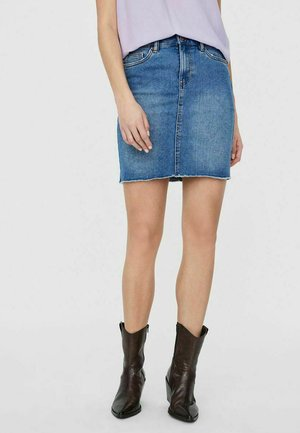 Mini skirt - medium blue denim