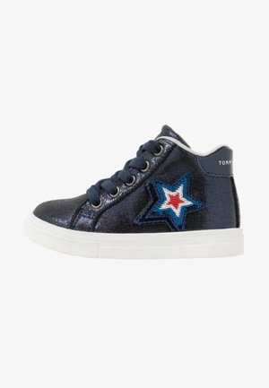 High-top trainers - blue