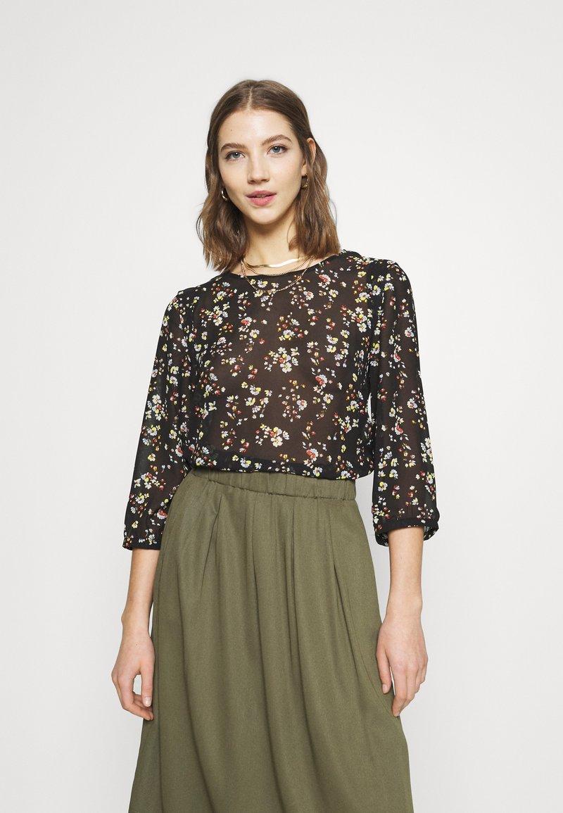 Vila - VIBLOSSOMS - Long sleeved top - black
