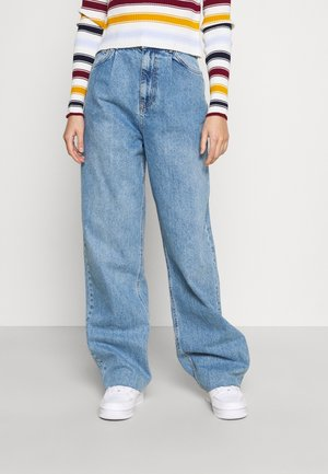 PLEATED - Relaxed fit jeans - mid blue