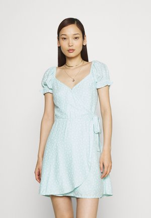 SPRING FLOATER WRAP DRESS - Kjole - blue