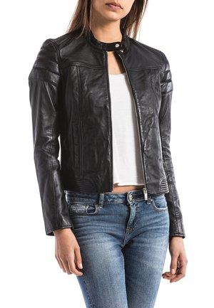BLUE WELLFORD - Leather jacket - black