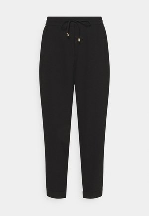TAPERED LEG PANTS - Trousers - black