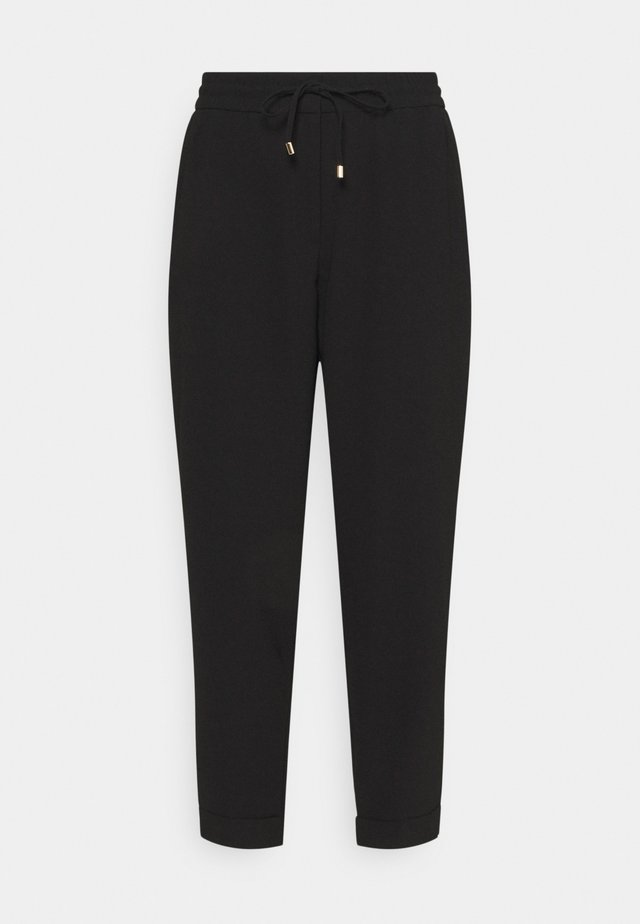 TAPERED LEG PANTS - Kangashousut - black
