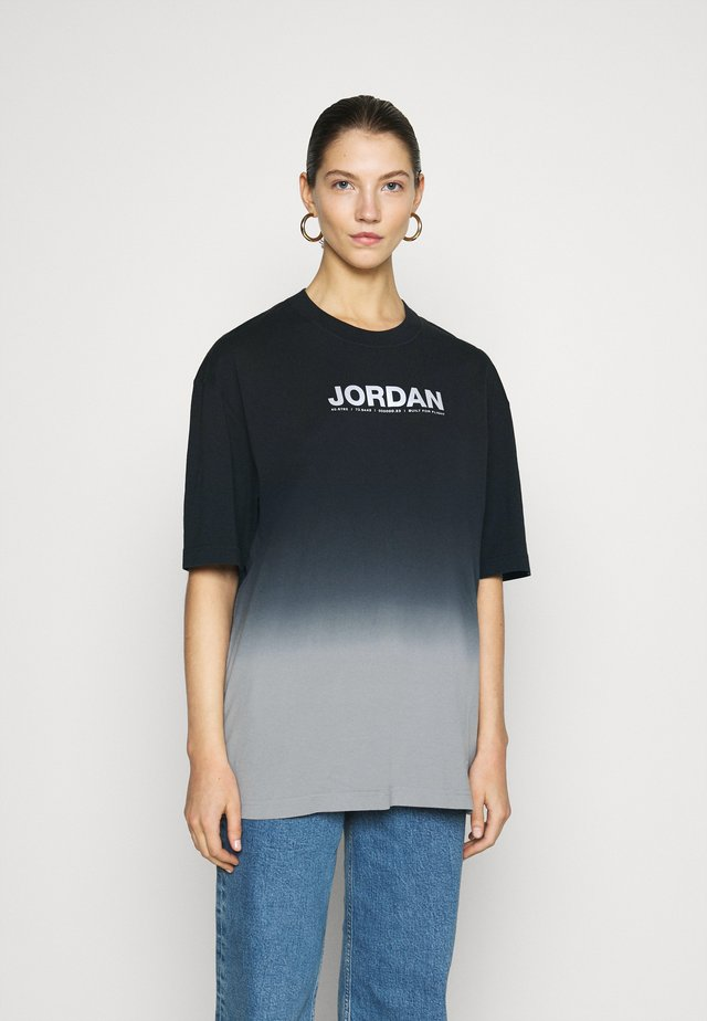 OVERSIZE TEE - T-shirts med print - particle grey/black