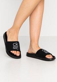 Calvin Klein Swimwear - SLIDE - Sandaler - black - 0