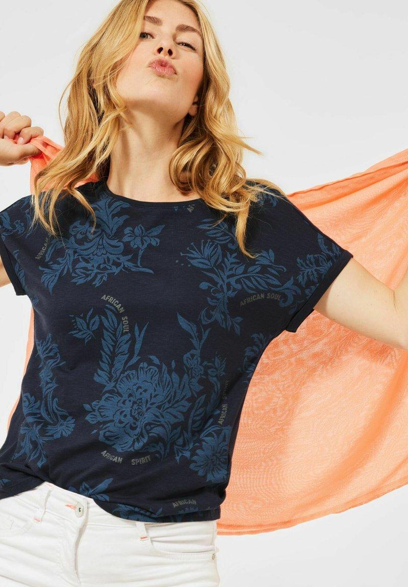 Cecil - Print T-shirt - blau