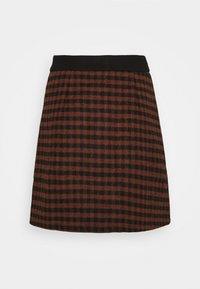 Fashion Union - JOHNNY SKIRT - Mini skirt - camel check - 1