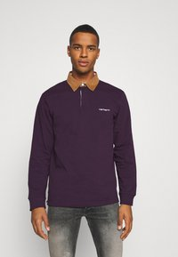 Carhartt WIP - RUGBY - Polo - boysenberry/hamilton brown/white - 0