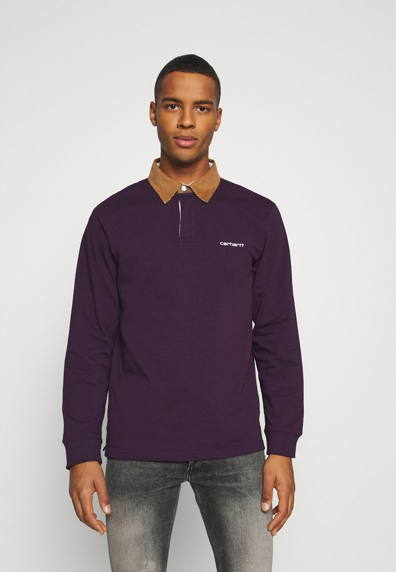 Carhartt WIP - RUGBY - Polo - boysenberry/hamilton brown/white