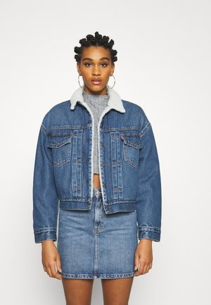 NEW HERITAGE SHERPA - Denim jacket - hot head