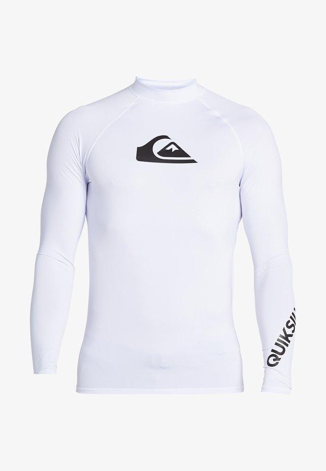 MIT UPF 50 FÜR MÄN - Rash vest - white