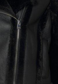 Topshop - MIX BIKER - Bunda zumělé kůže - black - 6