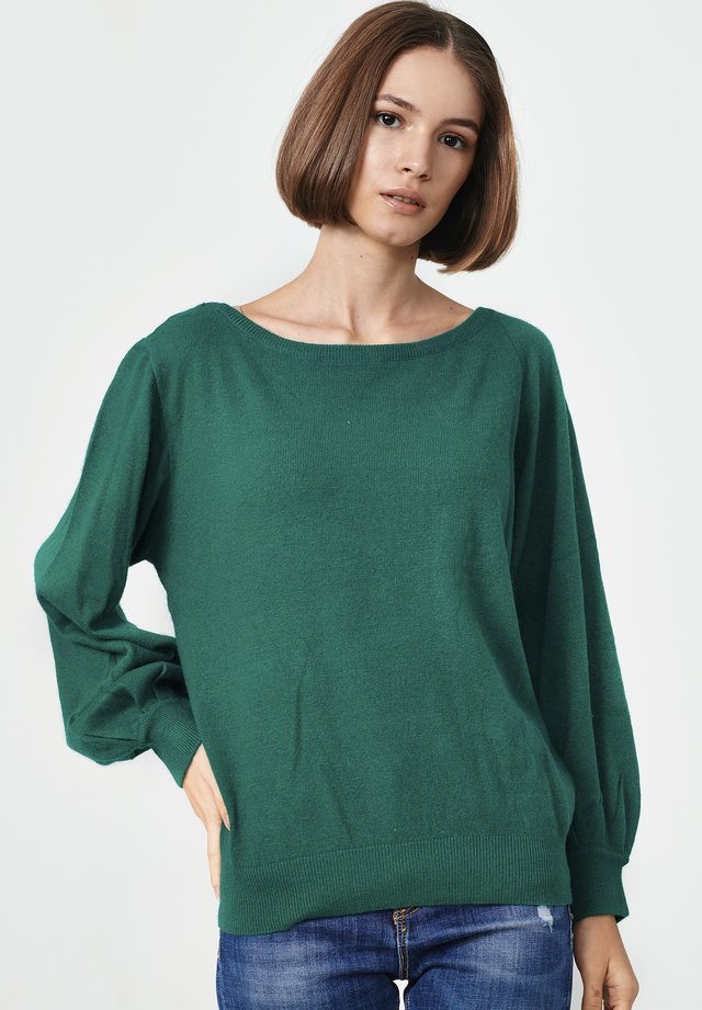 ALICANTE - Stickad tröja - green