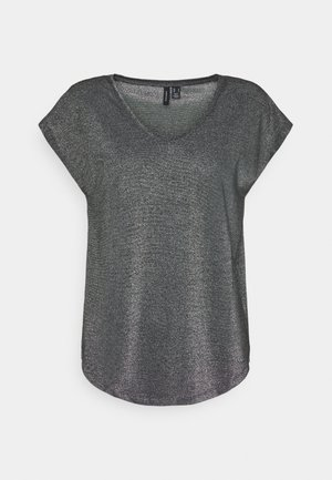 LUREX TOP - Print T-shirt - black