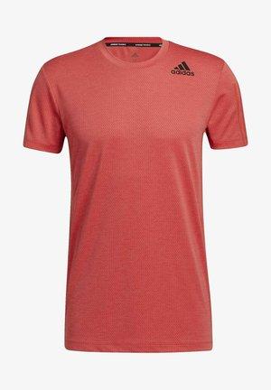 HEAT.RDY 3-STRIPES T-SHIRT - T-shirt print - red