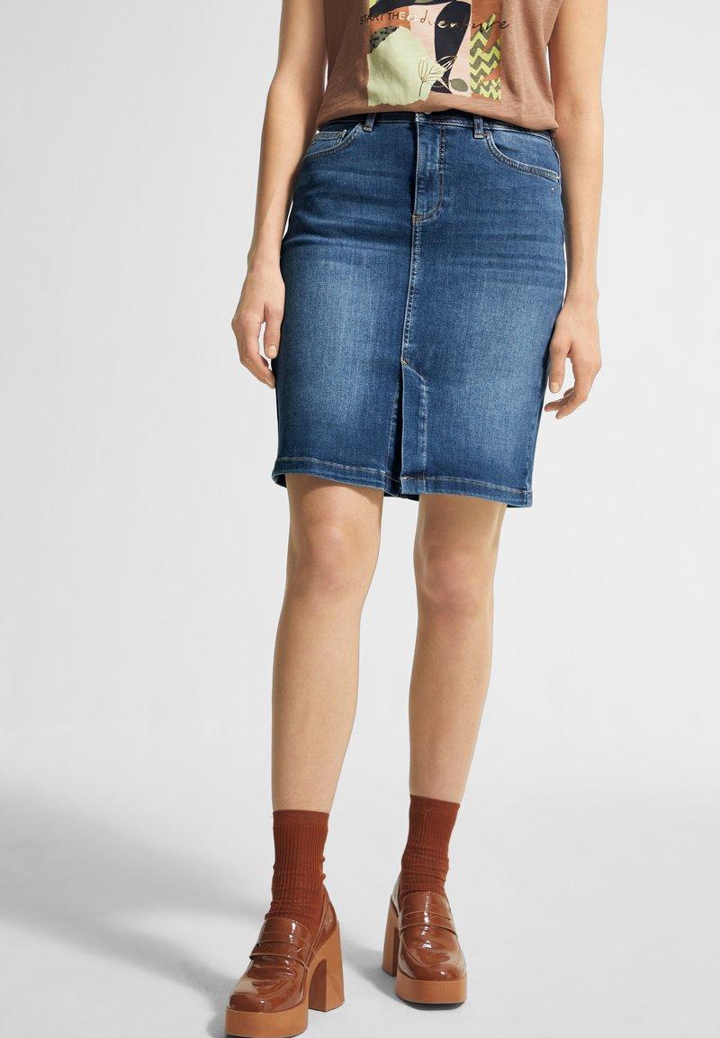 comma casual identity - Pencil skirt - blue
