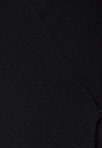 pure cashmere - WRAP CARDIGAN - Kardigan - black - 2