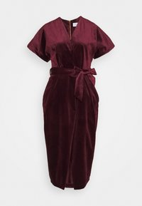 Closet - KIMONO WRAP OVER DRESS - Cocktail dress / Party dress - wine - 0