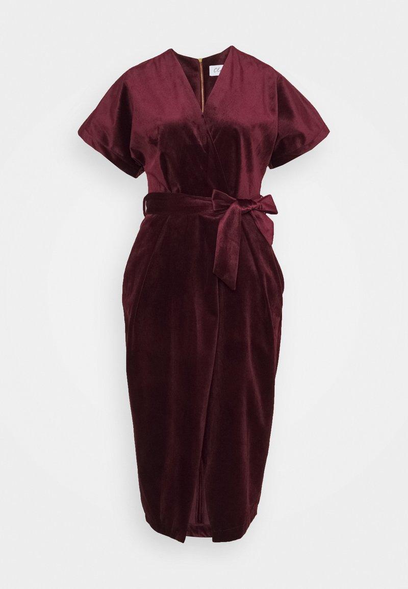 Closet - KIMONO WRAP OVER DRESS - Cocktail dress / Party dress - wine