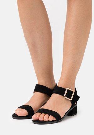 WIDE FIT BERGERAC - Sandals - black