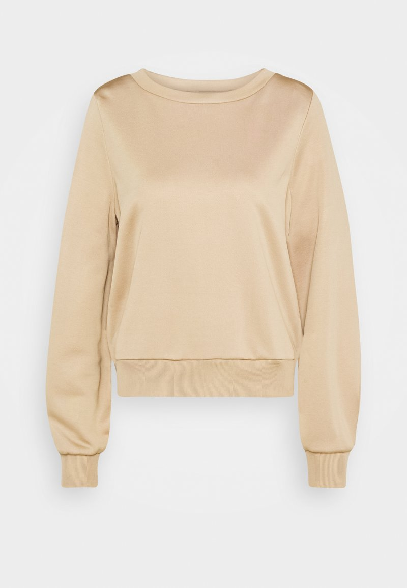 Marc O'Polo PURE - HIGH CREW NECK LONG VOLUME SLEEVE WITH DARTS TOWARD - Sweatshirt - latte macchiato