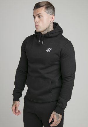 MUSCLE FIT OVERHEAD HOODY - Felpa - black